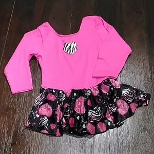 NEW LIST Girls xs dance bodysuit with skirt.